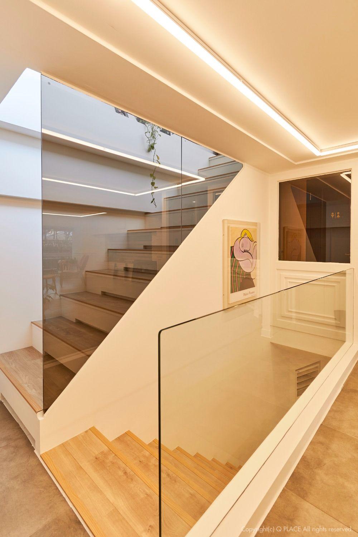 미용실 계단 인테리어